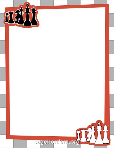 Urodzinki ramki znaczki i. Chess clipart border