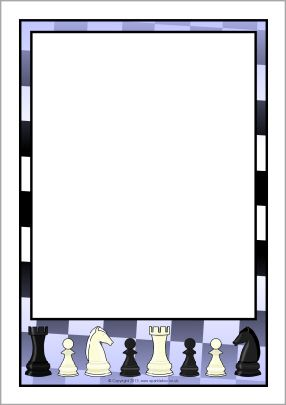 Chess clipart border. A page borders sb