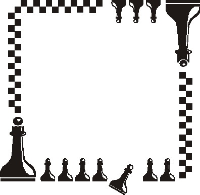 Chess clipart border. Pencil and in color