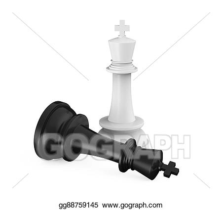 Chess clipart checkmate. Stock illustrations king pieces