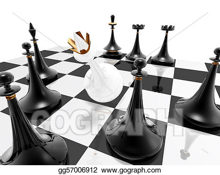 Chess clipart checkmate. Stock illustration gg gograph