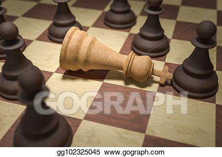 Stock illustration in white. Chess clipart checkmate