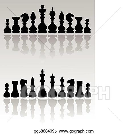 Vector art pieces eps. Chess clipart ches