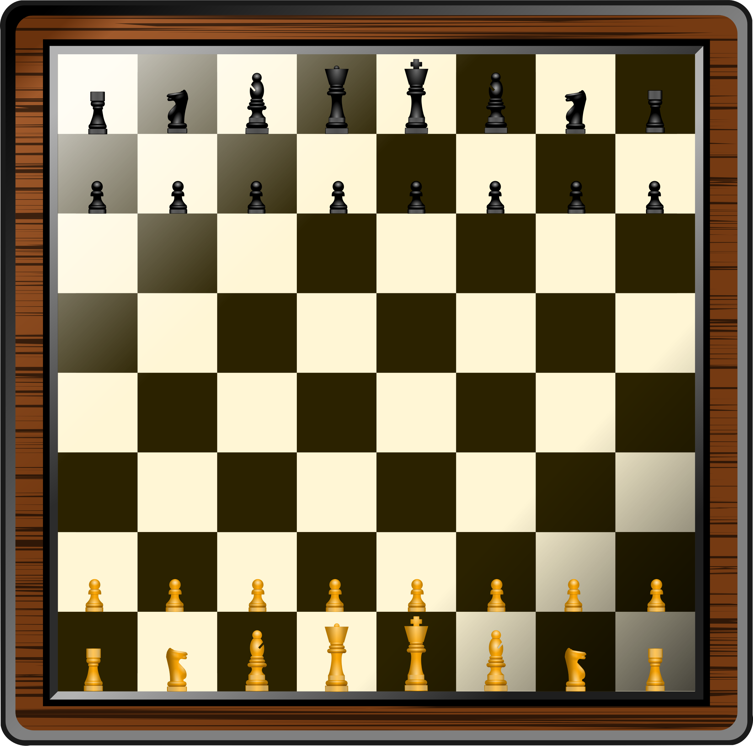 Fancy and pieces icons. Chess clipart chess board