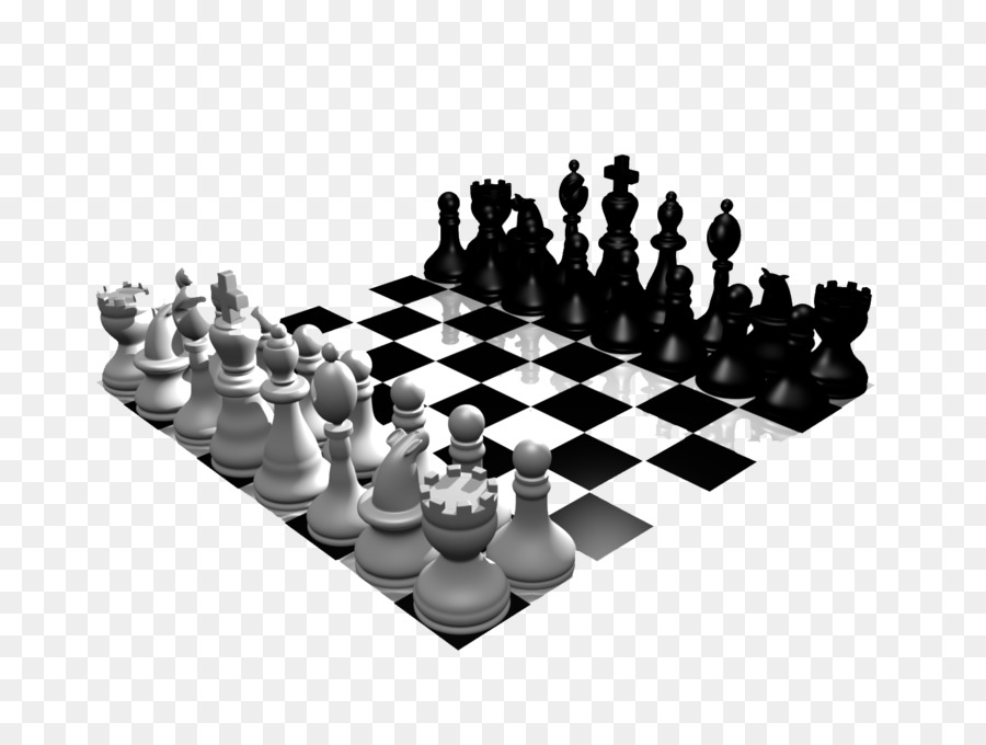 Chess clipart chess board. Piece white and black