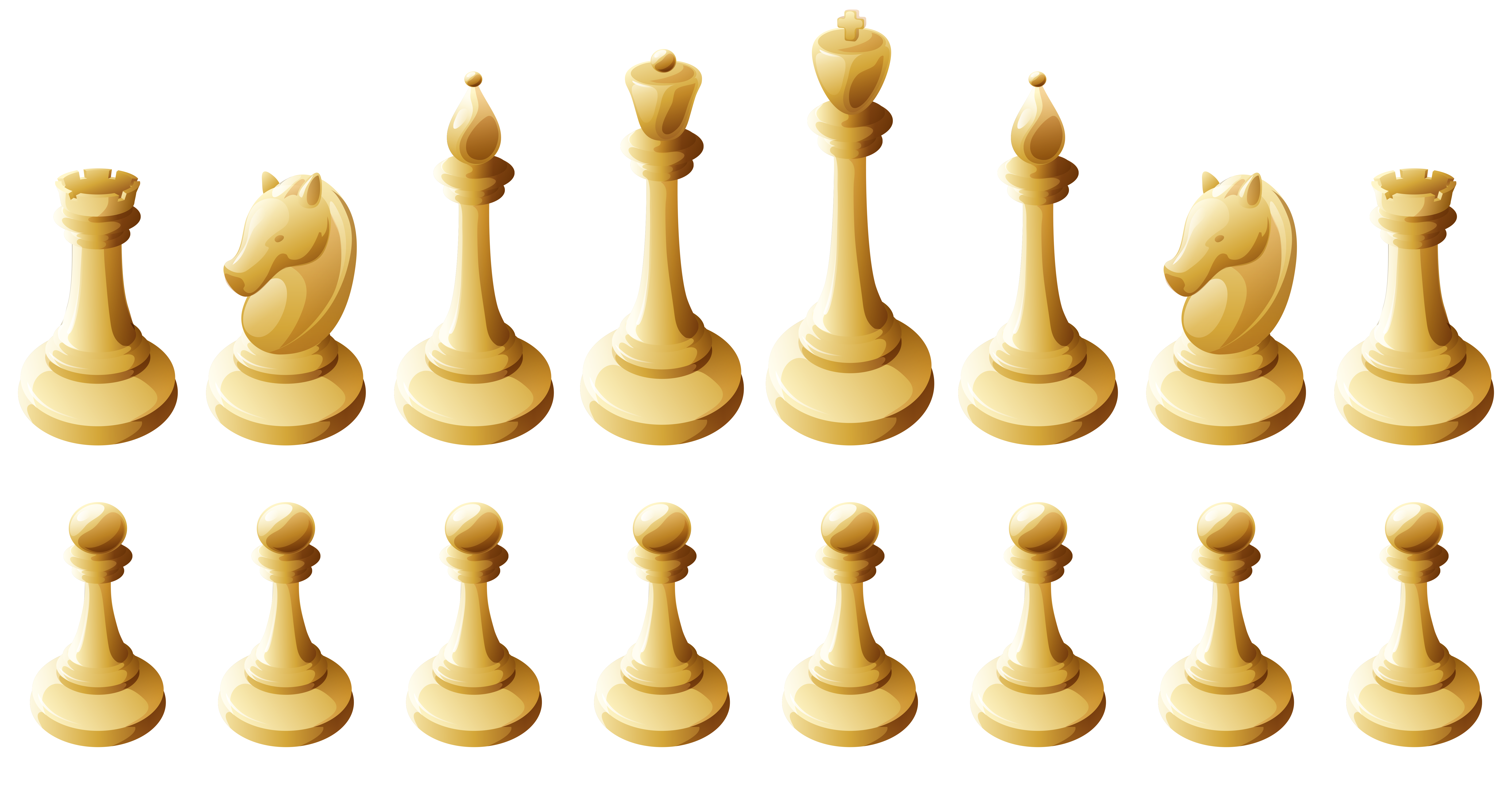 Games clipart game piece. White chess pieces png