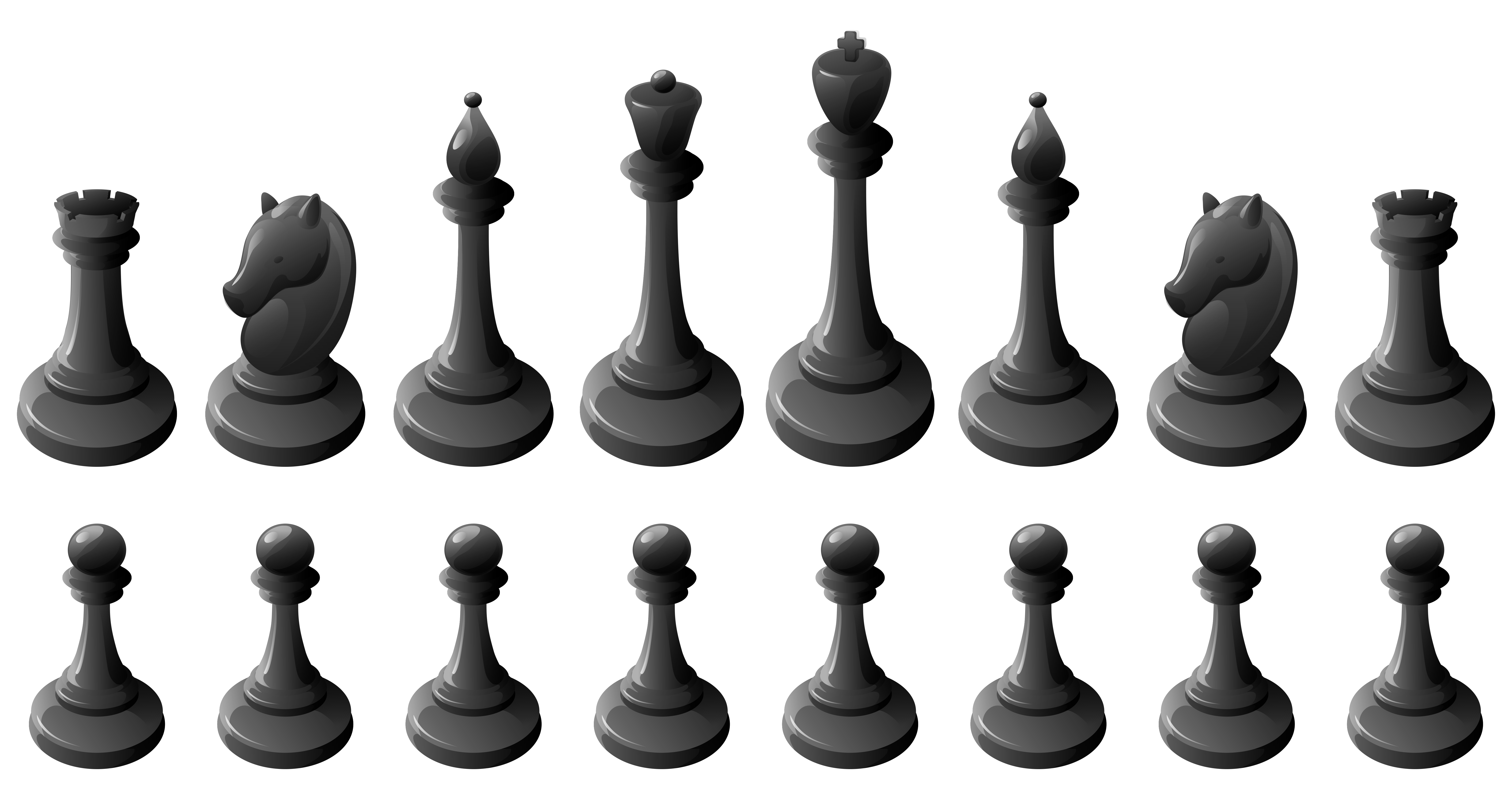 Game clipart board game. Black chess pieces png