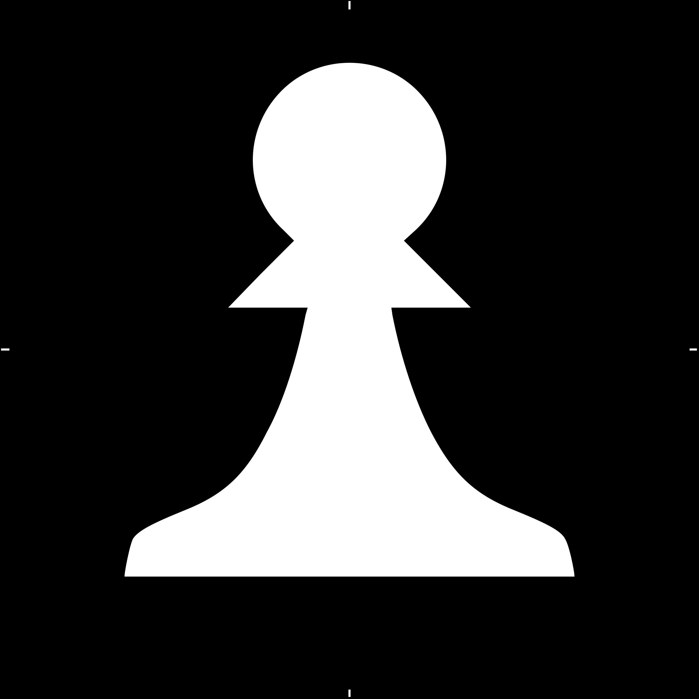 Writer clipart peon. Chess piece symbol white