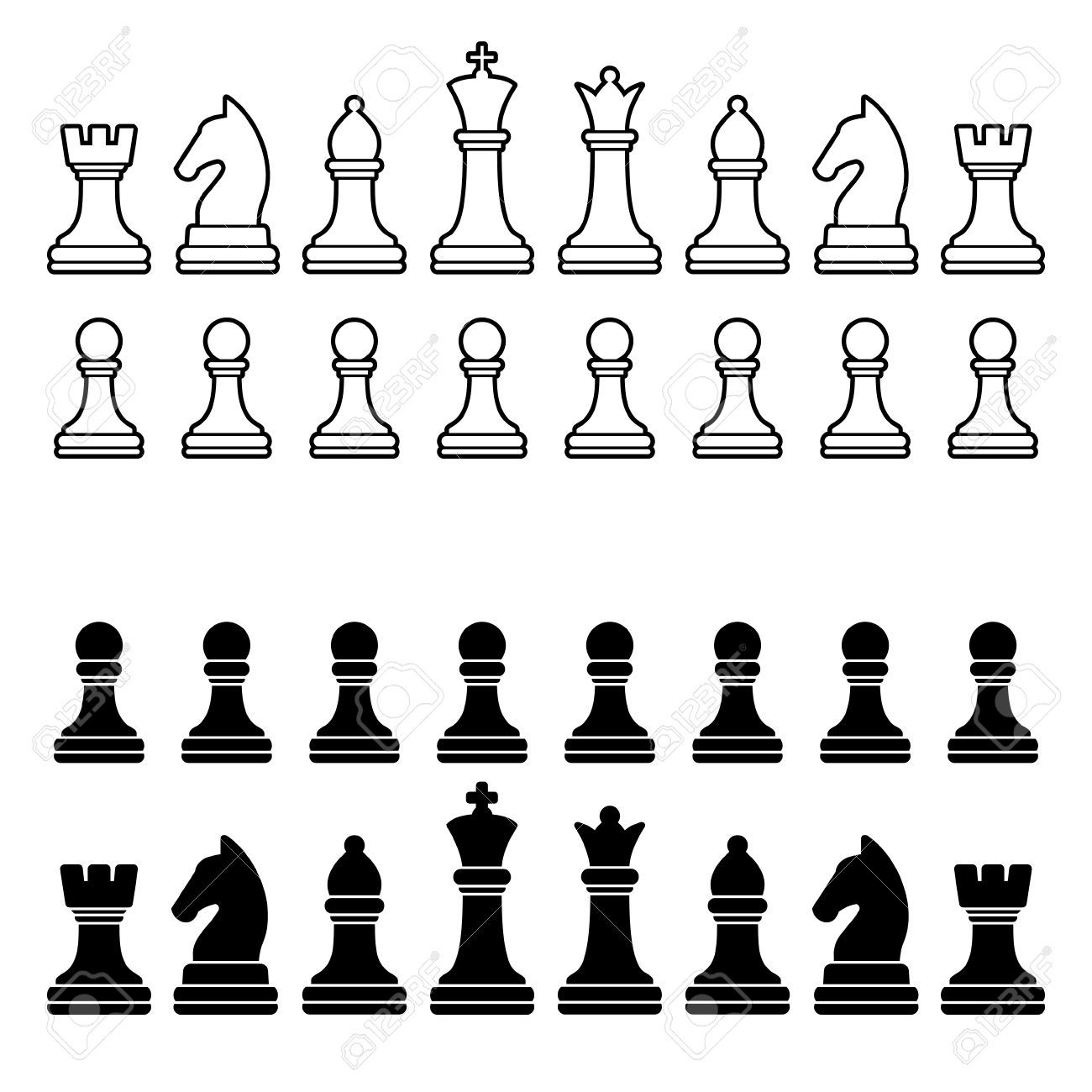 Stock vector faves tattoo. Chess clipart chess piece
