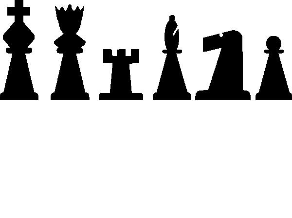 Chess clipart chess piece. Pieces set clip art