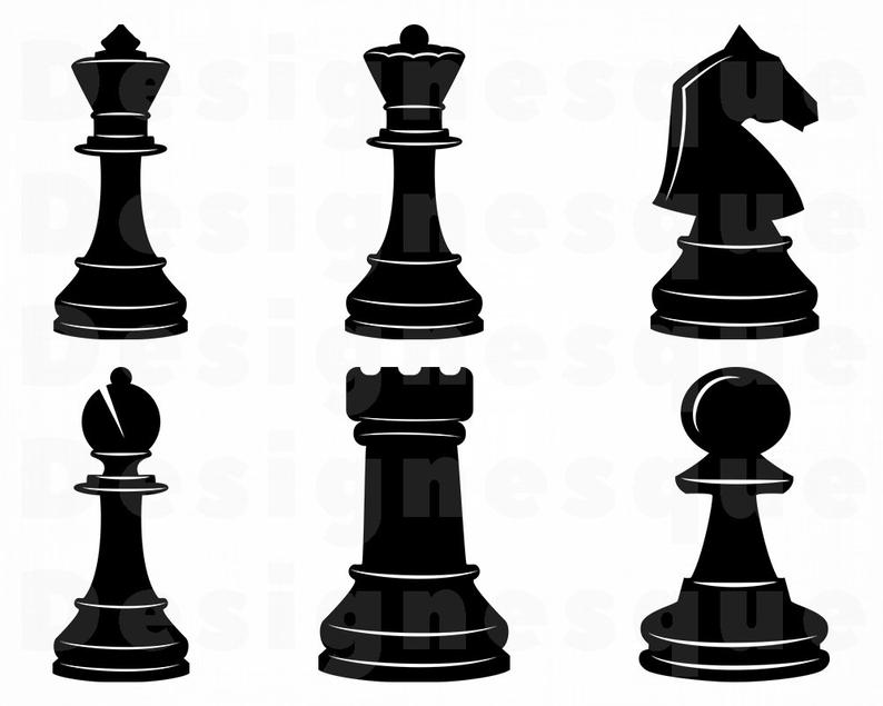 Chess clipart chess piece. Svg pieces cut files