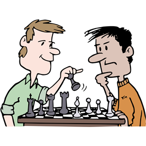 Chess clipart chess player. Players colour cliparts of