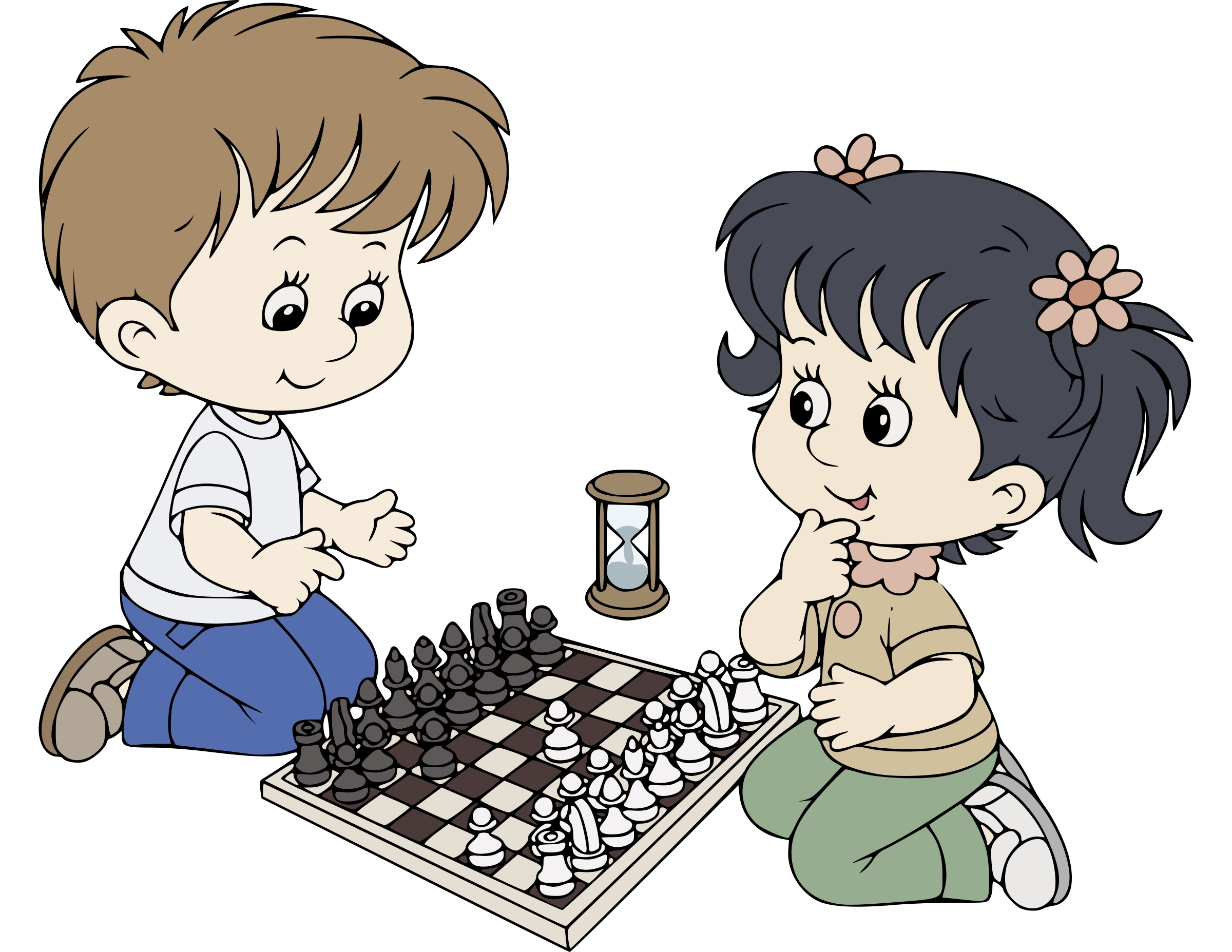Unique design digital collection. Chess clipart chess player