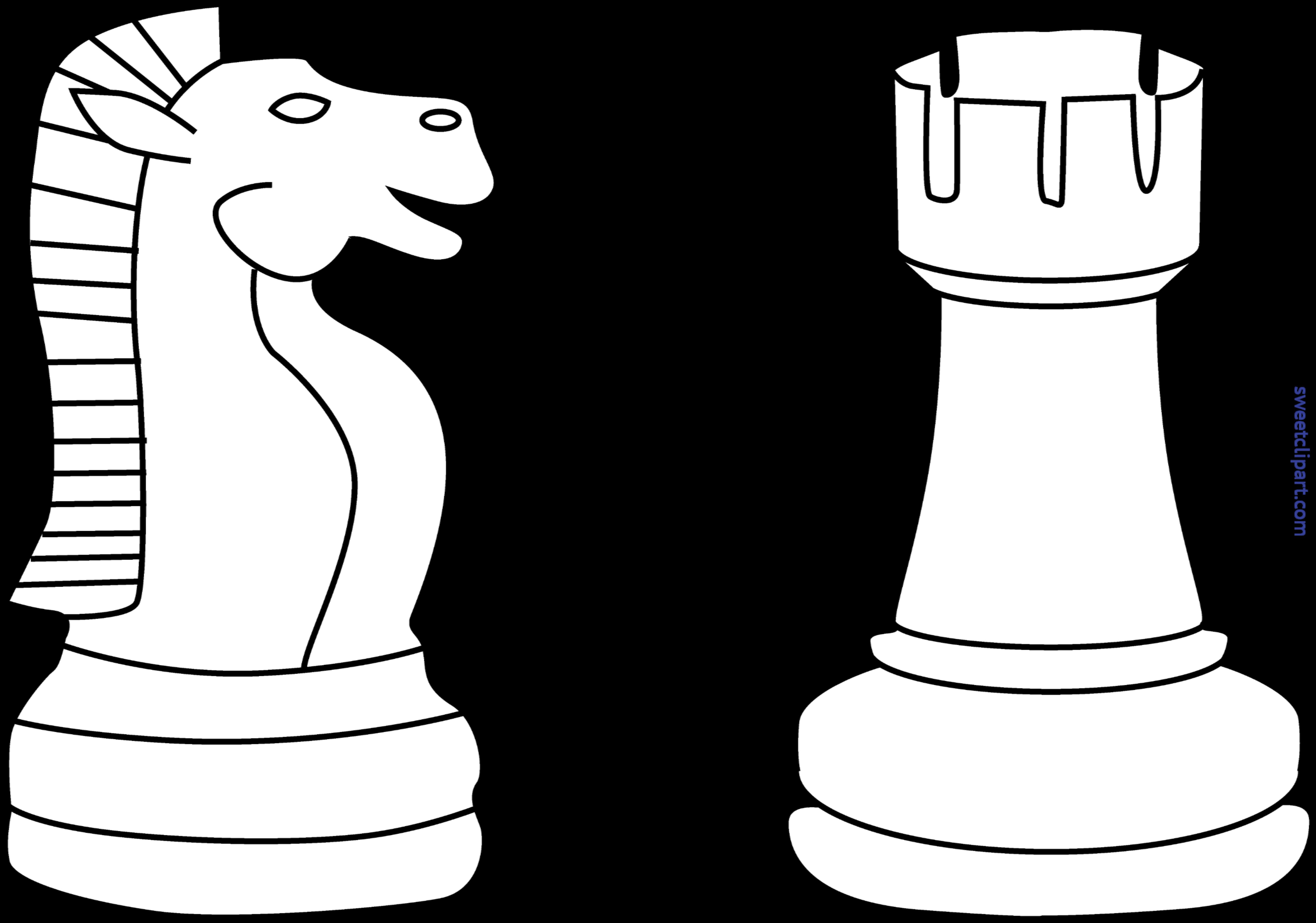 Pieces lineart clip art. Chess clipart indoor sport