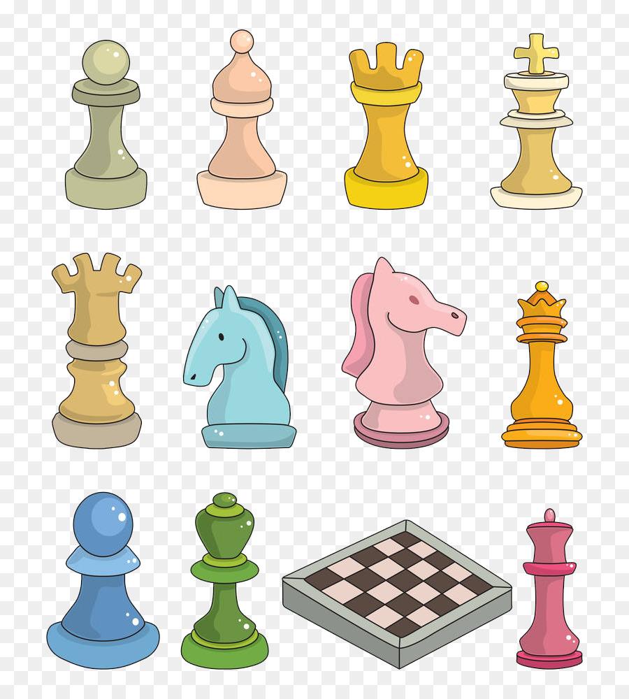 Piece cartoon queen chessboard. Chess clipart indoor sport