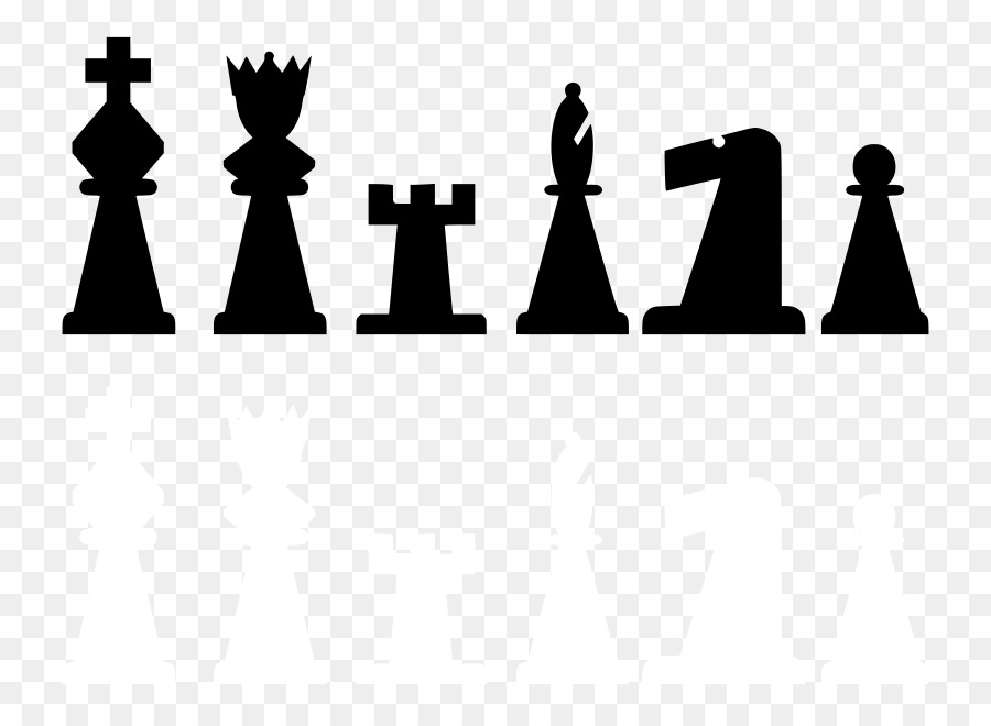 Chess clipart line. Black background king queen