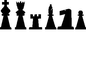 Pieces set clip art. Chess clipart line