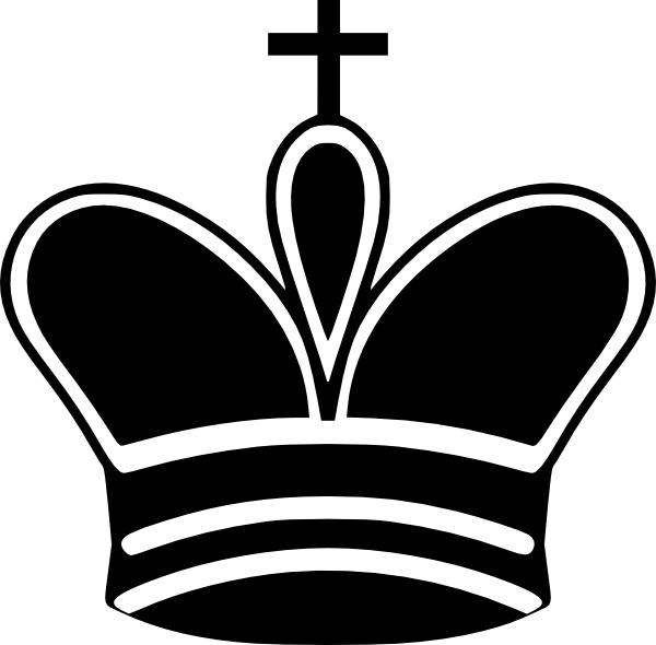 Chess clipart line. King piece clip art