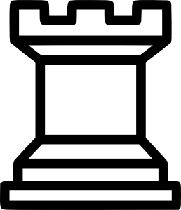 Rook piece clip art. Chess clipart line