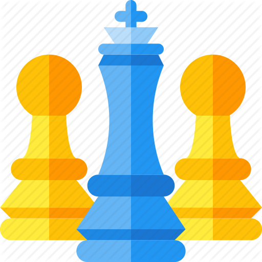 Chess clipart strategy. Flat seo icons by