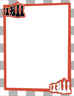 Free miscellaneous borders clip. Chess clipart word