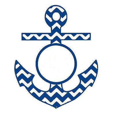 Anchor clipart monogram. Chevron cricut pinterest and