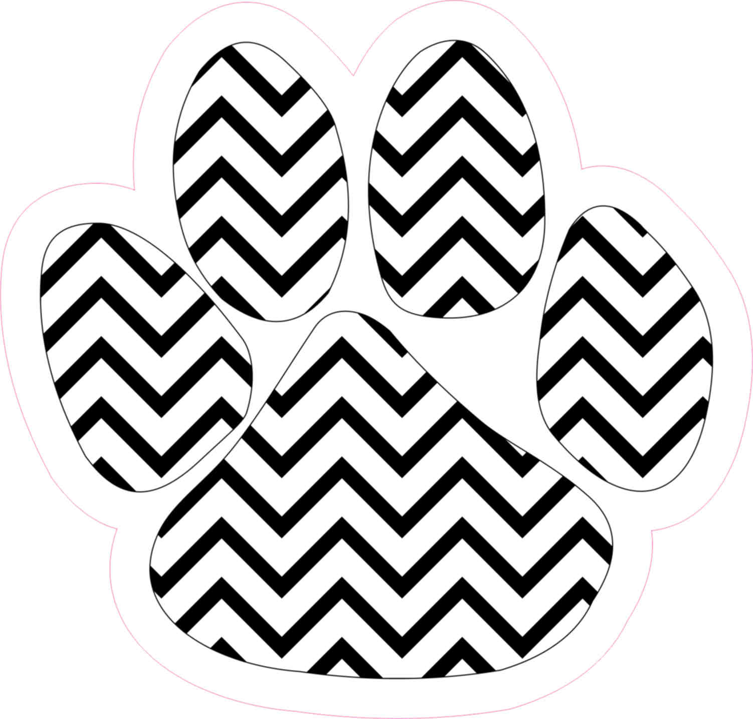 in x paw. Chevron clipart black and white