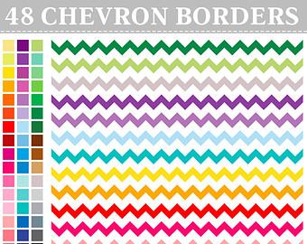 Digital stamp modern geometric. Chevron clipart border
