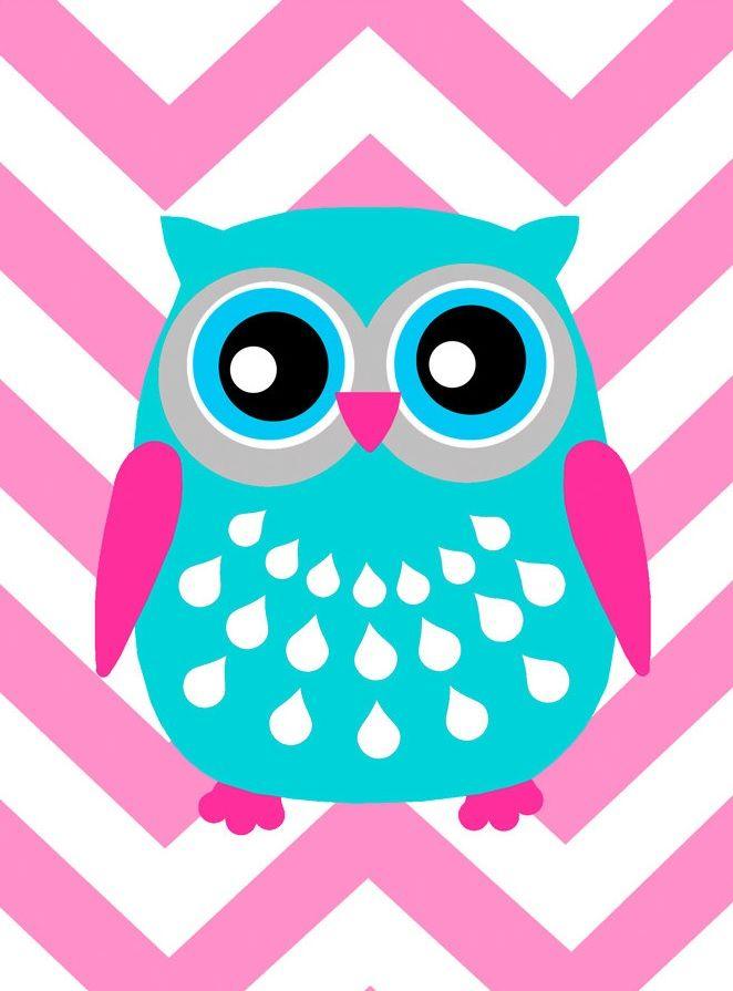 Modern x owl silhouette. Chevron clipart cute