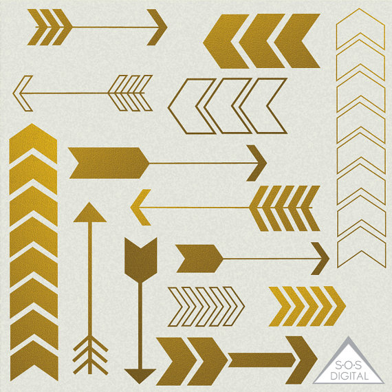 Chevron clipart cute. Gold arrow arrows digital