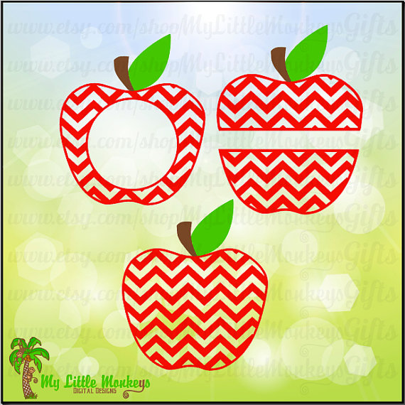 Chevron clipart design. Apple split monogram base
