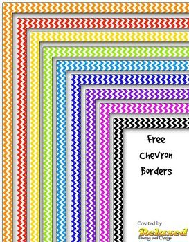 Chevron clipart design. Nine borders in various