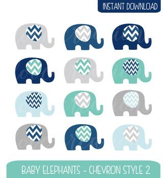 Chevron clipart elephant. Baby clip art style