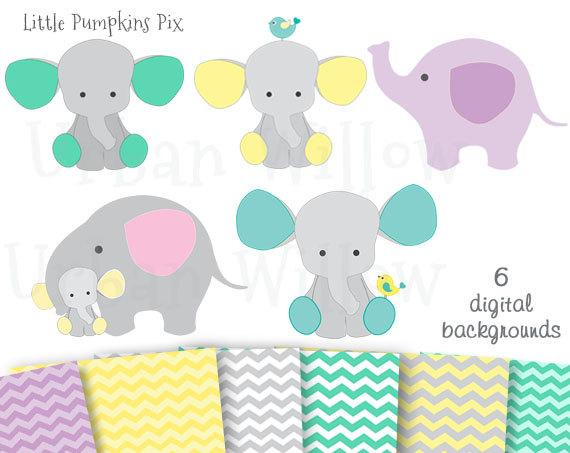 Baby elephants cute graphics. Chevron clipart elephant