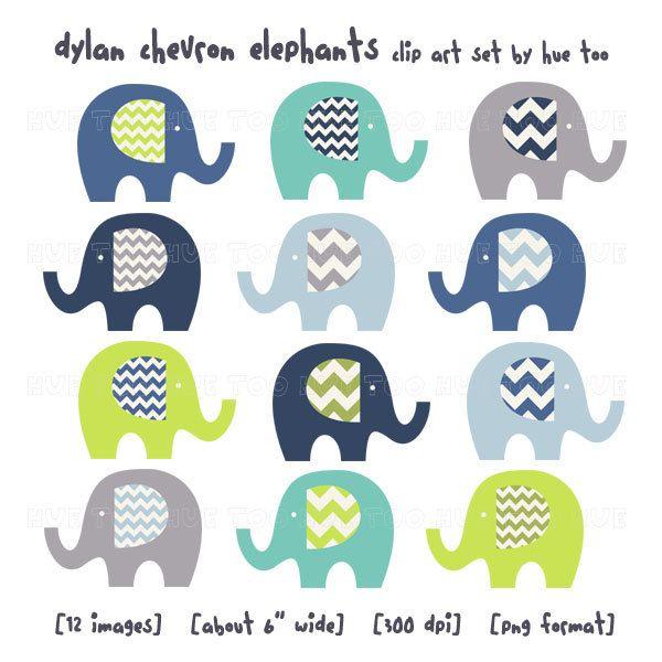 Clip art elephants lime. Chevron clipart elephant