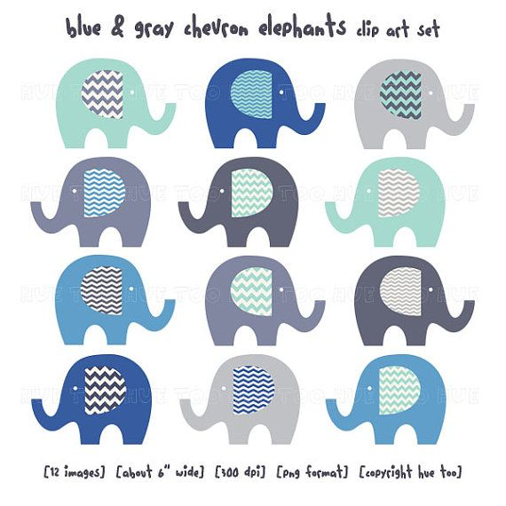 Elephants clip art gray. Chevron clipart elephant