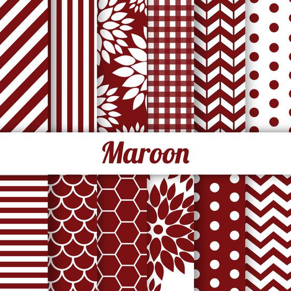 off digital paper. Chevron clipart maroon
