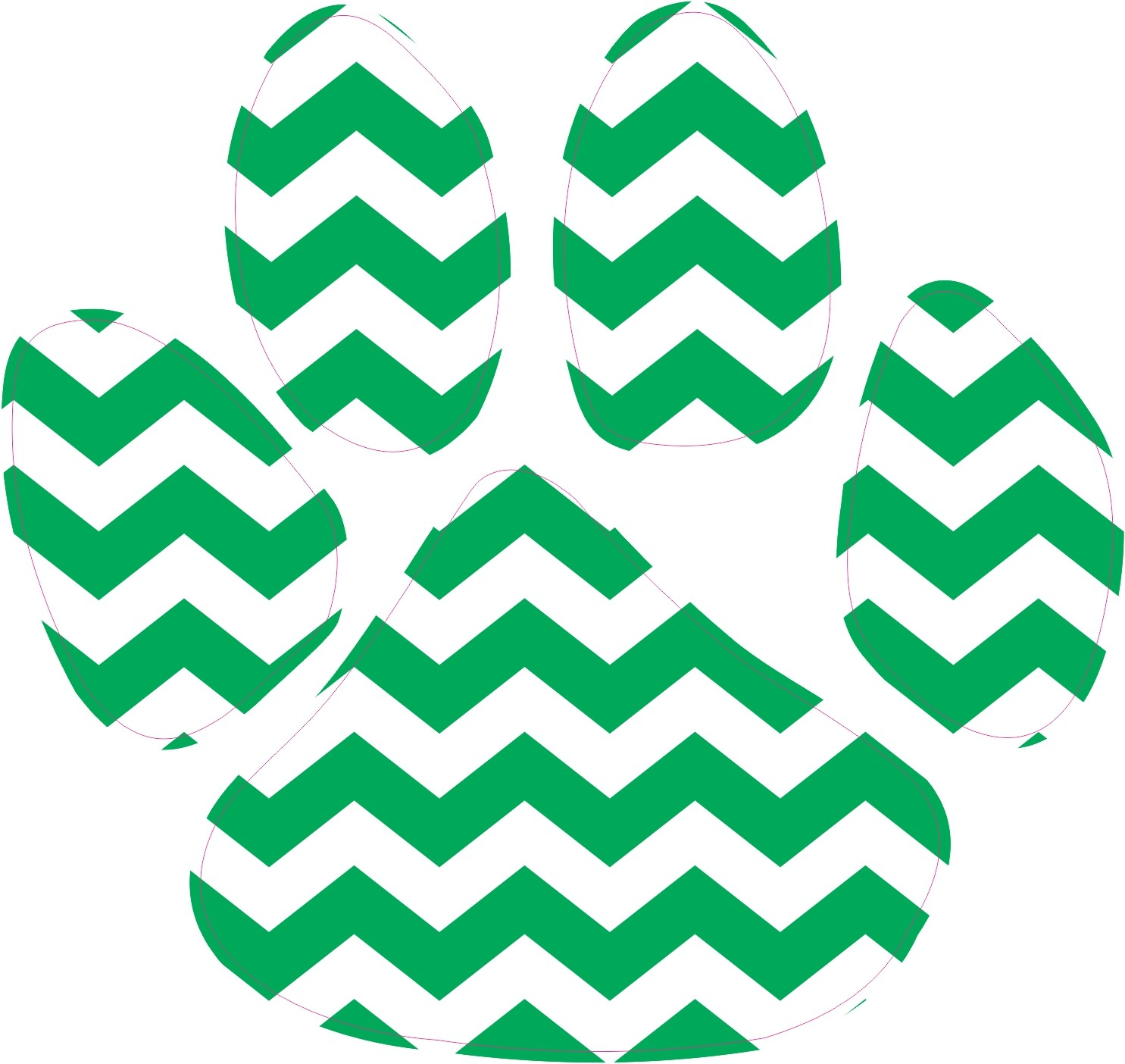 Chevron clipart print.  in x green
