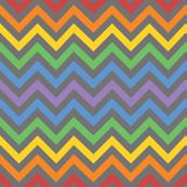 Robot quilt and coordinates. Chevron clipart rainbow