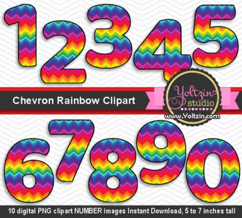 Chevron clipart rainbow. Numbers colorful number clip