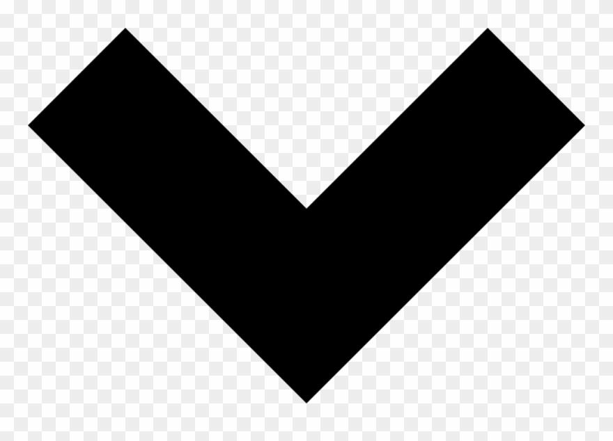 Down svg png icon. Chevron clipart shape