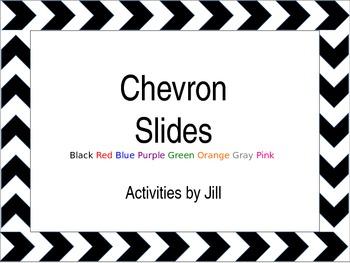 Borders powerpoint template . Chevron clipart simple
