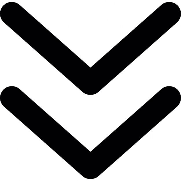 Chevron clipart symbol. Arrow down icons free