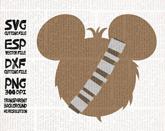 Etsy mickey heads perfect. Chewbacca clipart