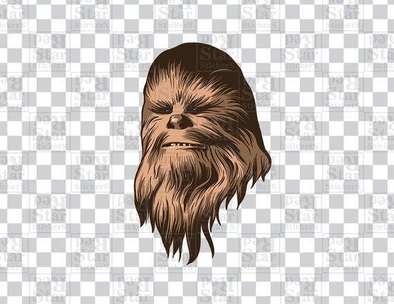 Chewbacca clipart. Star wars illustration digital