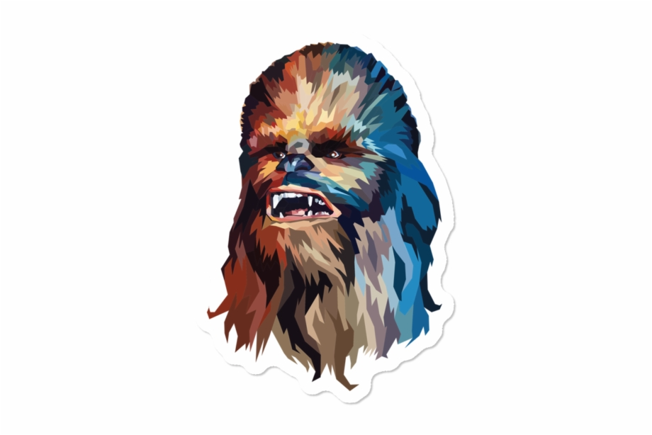 Chewbacca clipart abstract. Poly polygon free png