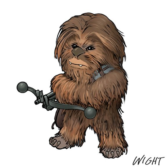 best star wars. Chewbacca clipart animated