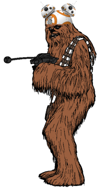 Chewbacca clipart animated. Cartoon images gallery for