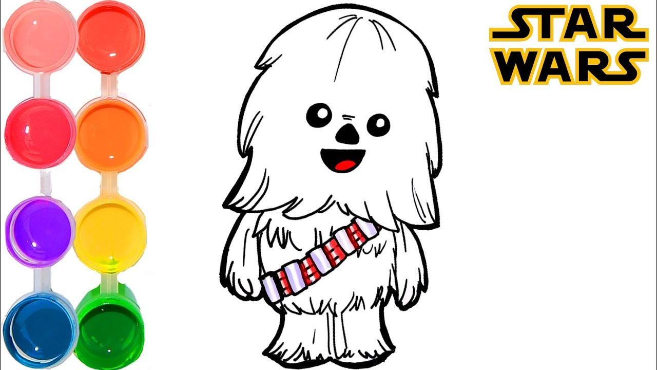 Chewbacca clipart baby. How to draw color