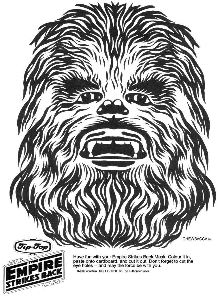 Chewbacca clipart back. Starwars star wars masks